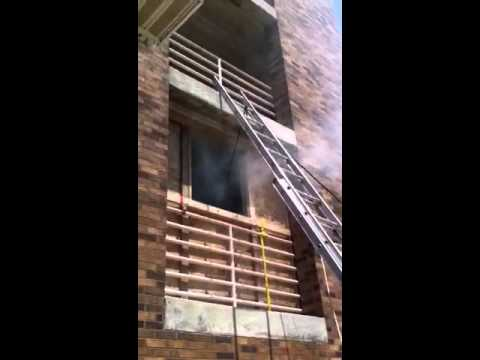 High Point Ladder Anchor--Firefighter Removal