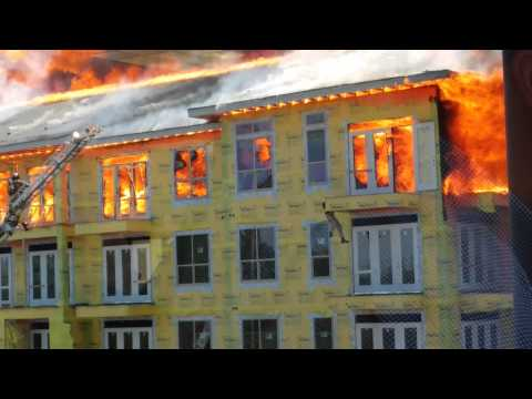 Raw Video: Rescue at Houston Five-Alarm Fire
