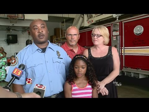 Firefighter reunites with girl he rescued 8 years ago