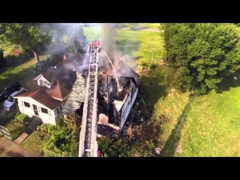 Detroit Fire Department -1129 Lakeview- Detroit Drone Aerial Video