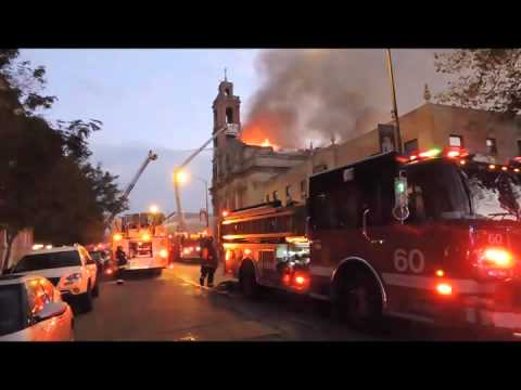Chicago 3-11 Alarm Church Fire