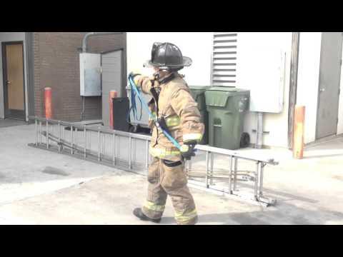 Single Firefighter Ladder Deployment