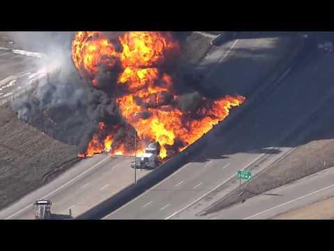 RAW: Dearborn (MI) Tanker Explosion
