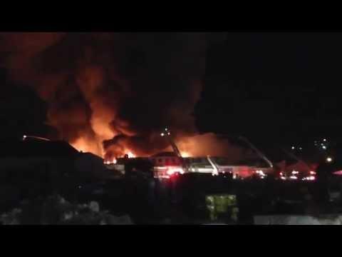 Raw Video: Massive Providence (RI) Fire