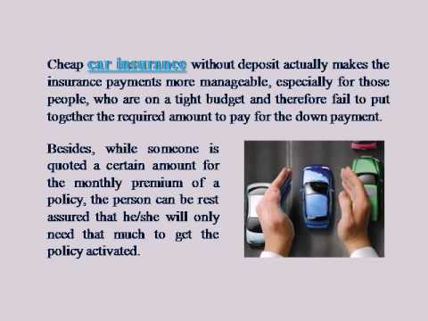 Why Do People Prefer Cheap Monthly Car Insurance with No Deposit