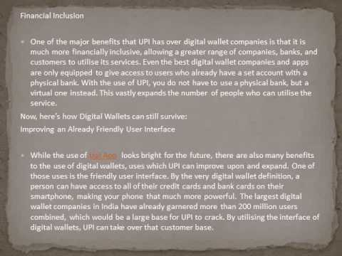 Impact of Unified Payment Interface on Digital Wallets