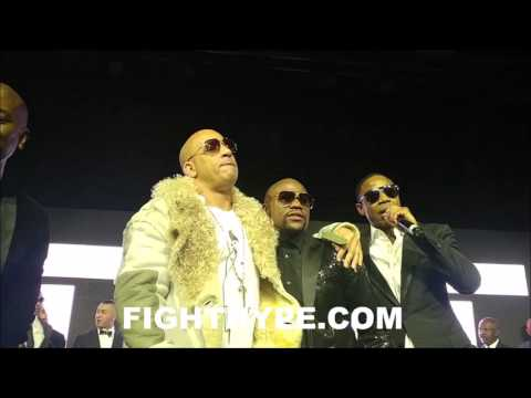 (EPIC) VIN DIESEL AND DOUG E. FRESH PAY HOMAGE TO FLOYD MAYWEATHER AT 40TH BIRTHDAY GALA