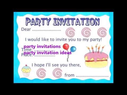 Party Invitation Idea