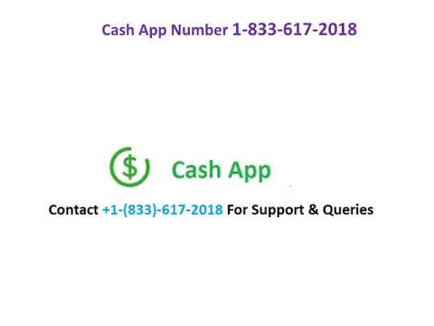 Cash App Phone Number 1-833-617-2018