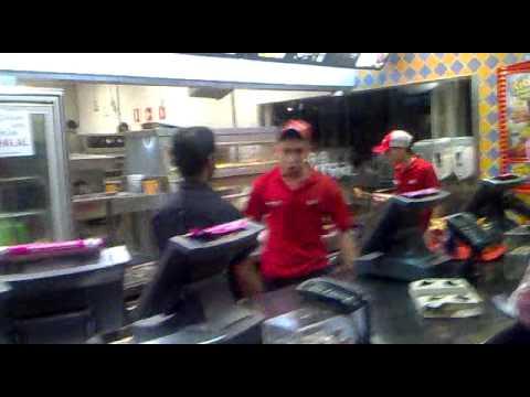 "KFC WORKER LOSES IT ""I'm Gonna F*ckin' Break Your Head Bro!!"" LMFAO!!!"