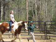 Bareback Lesson Jen and Christen