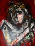 I died a hundred times No No No  Amy  Winehouse  Acryl auf Karton 100 x 70 cm