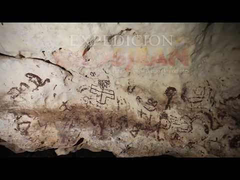 Pinturas rupestres en cuevas de Yucatán
