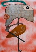 Orlando Furioso mixed media on paper cm 70 x 50 2012 piccolo