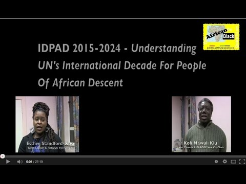 IDPAD 2015-2024 Understanding The UN's Int'l Decade For People Of African Descent