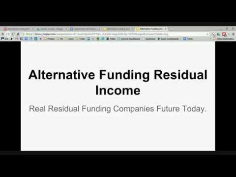 Alternative Funding Residual Income Opportunity