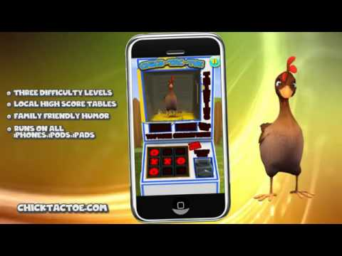 Chick-Tac-Toe for the iPhone iPod iPad-FREE for iOS, Android & Kindle Fire