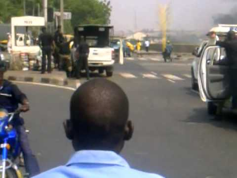 #OccupyLagos protester being beaten 2