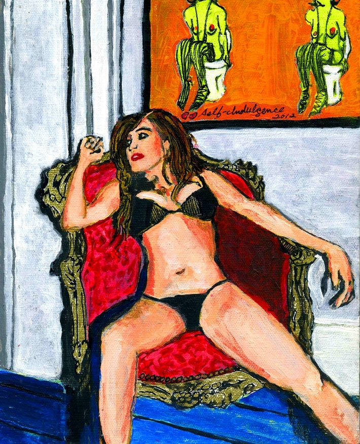 Girl in Red Chair