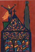 The chruch of multiculturalism, Work on paper Pen & Ink dra~1