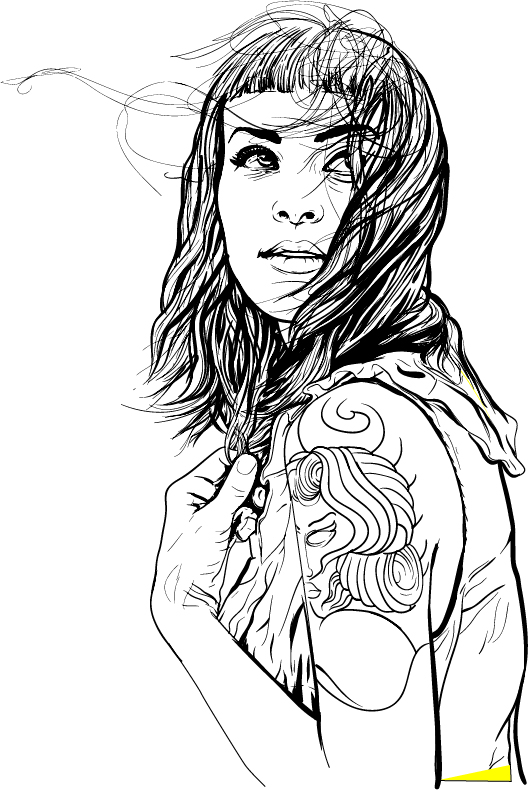Girl with the tattoo (in progress)