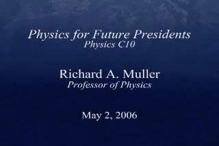 Physics 10 - Lecture 04: Gravity and Satellites II - 1:04:16 - May 26, 2006