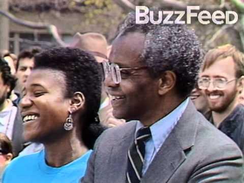 President Obama Protesting at Harvard in 1991