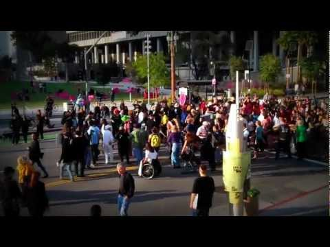 Indigenous Peoples Lead Massive Protect the Sacred Round Dance at Los Angeles Climate Rally