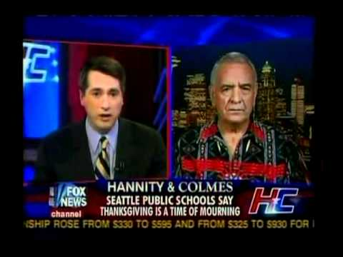 Dakota and Chickasaw Elder Takes On Hannity and Colmes, Fox News on Thanksgiving Conflict