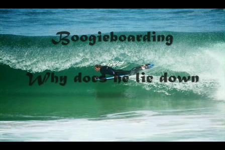Bodyboarder fighting