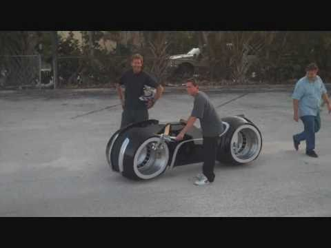 Tron Lightcycle Test Drive Parker Brothers Choppers TRON Legacy.wmv