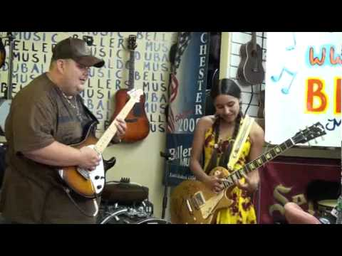 Desiree' jams with Johnny Hiland