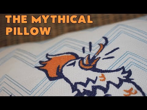 The Mythical Pillow - Time Lapse Cross Stitch