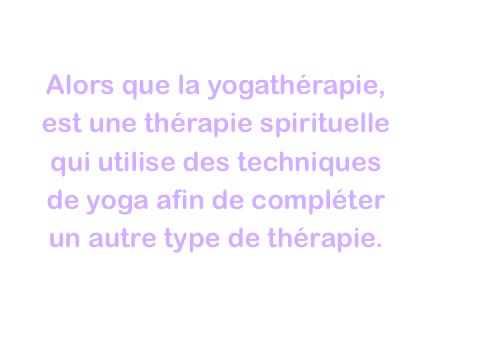 Qu'est ce que la yogatherapie ?