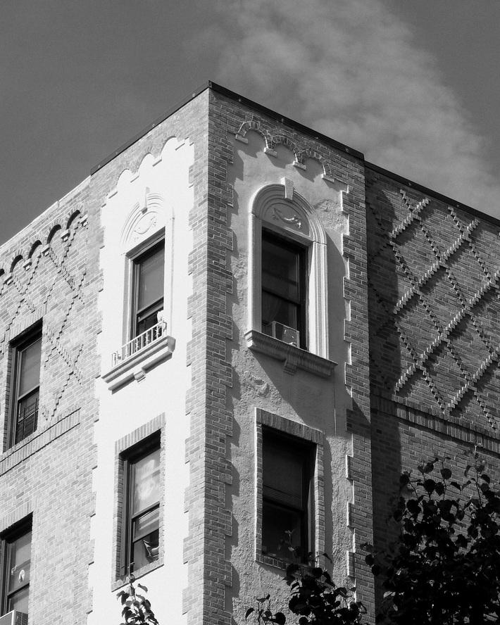 Brickwork and windows in Bronxdale