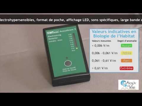 Détecteur hautes fréquences Acousticom 2 Choix de Vie Sarl