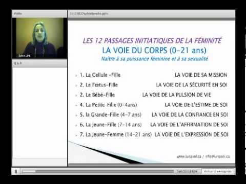 Séminaire de développement personnel, les 12 passages initiatiques de la femme