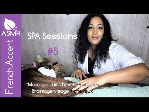 [asmr français] ASMR Spa sessions role play / jeu de rôle *Massage cuir chevelu, oreilles, brossage