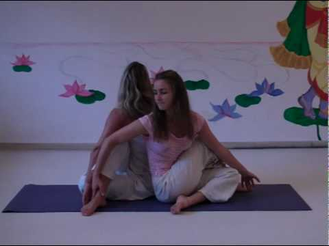 Sitting Spinal Twist - Yoga Partner Asana