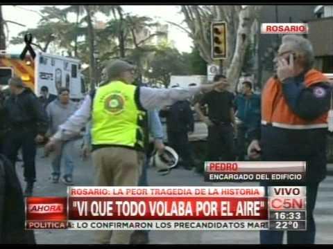 C5N - EXPLOSION EN ROSARIO: HABLA EL ENCARGADO DEL EDIFICIO