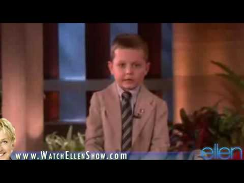JOSHUA SACCO   on Ellen DeGeneres Show, October 6, 2009 HD VIDEO  Part 1