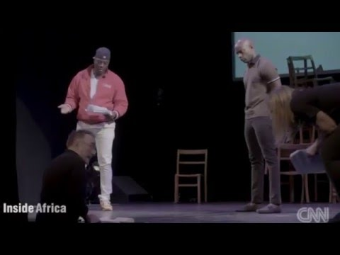 Hollywood stars and African drama students for Dramatic Needs