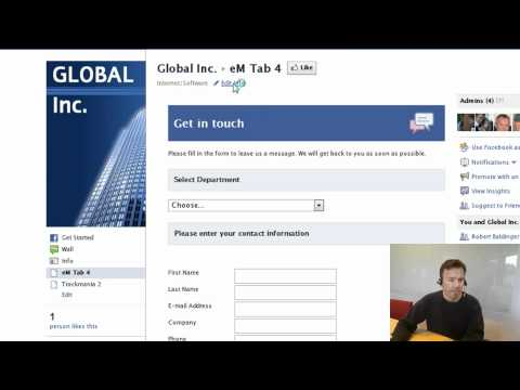 How to change facebook tab name & setting default landing tab