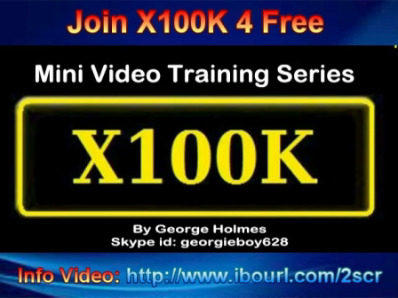 How To Registar For X100K Webinars.