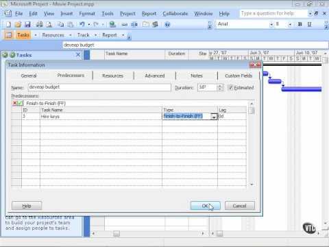 Afhankelijkheden in Microsoft Project 2007