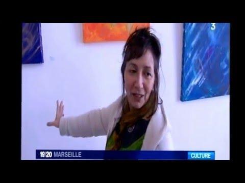 Peinture Intuitive Vibratoire Sacrée  vernissage Sebastopol   Marseille  mars 2016