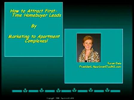 """Karen Deis - """"Finding Home Buyer Gold in Apartment Complexes"""""""