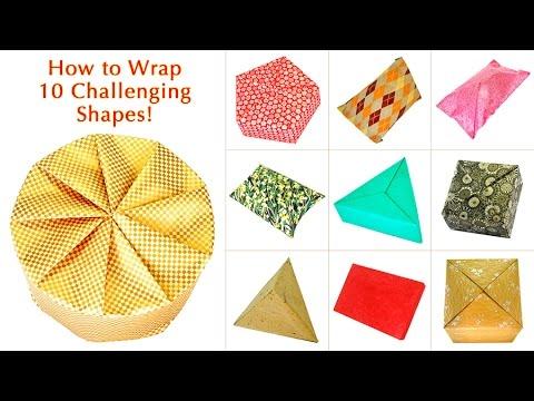Как упаковать подарки разной формы?