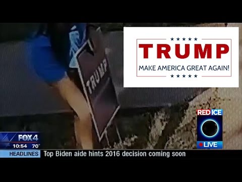 InTolerant Lefties Stealing Trump Signs Across the Country, Some Using Violence & Agression