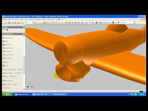 (HD) Autodesk Inventor surface modeling (+test renders in 3DS Max)